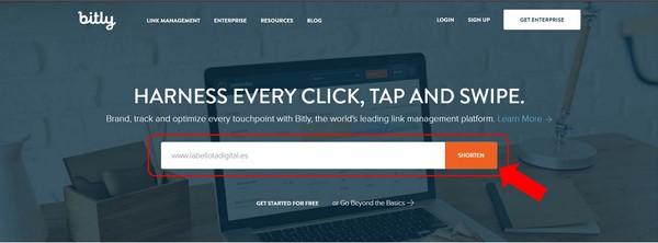 Acortador de URLs Bitly 1